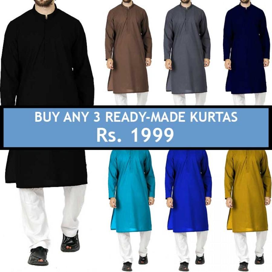 Buy any 3 Ready-Made Kurtas