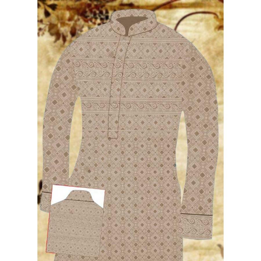 Un-stitched Kurta Shalwar HJ Style D-13