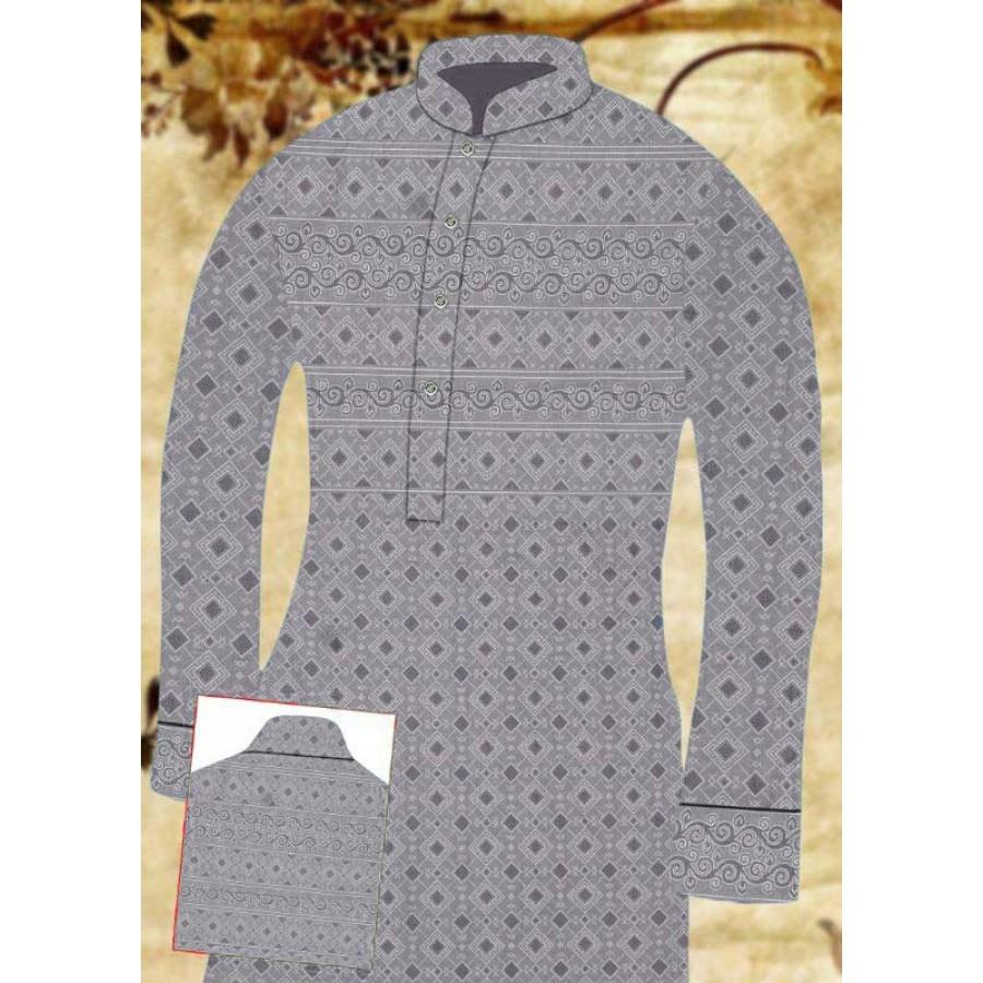 Un-stitched Kurta Shalwar HJ Style D-16