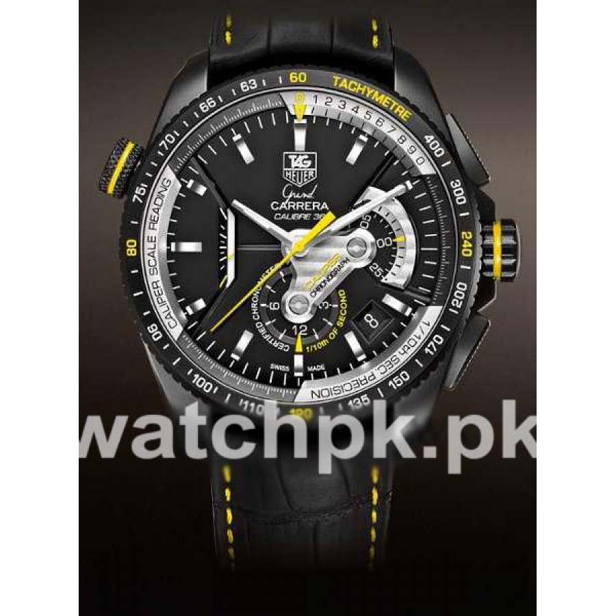 Tag Heuer Grand Carrera Calibre 36 - Black Yellow