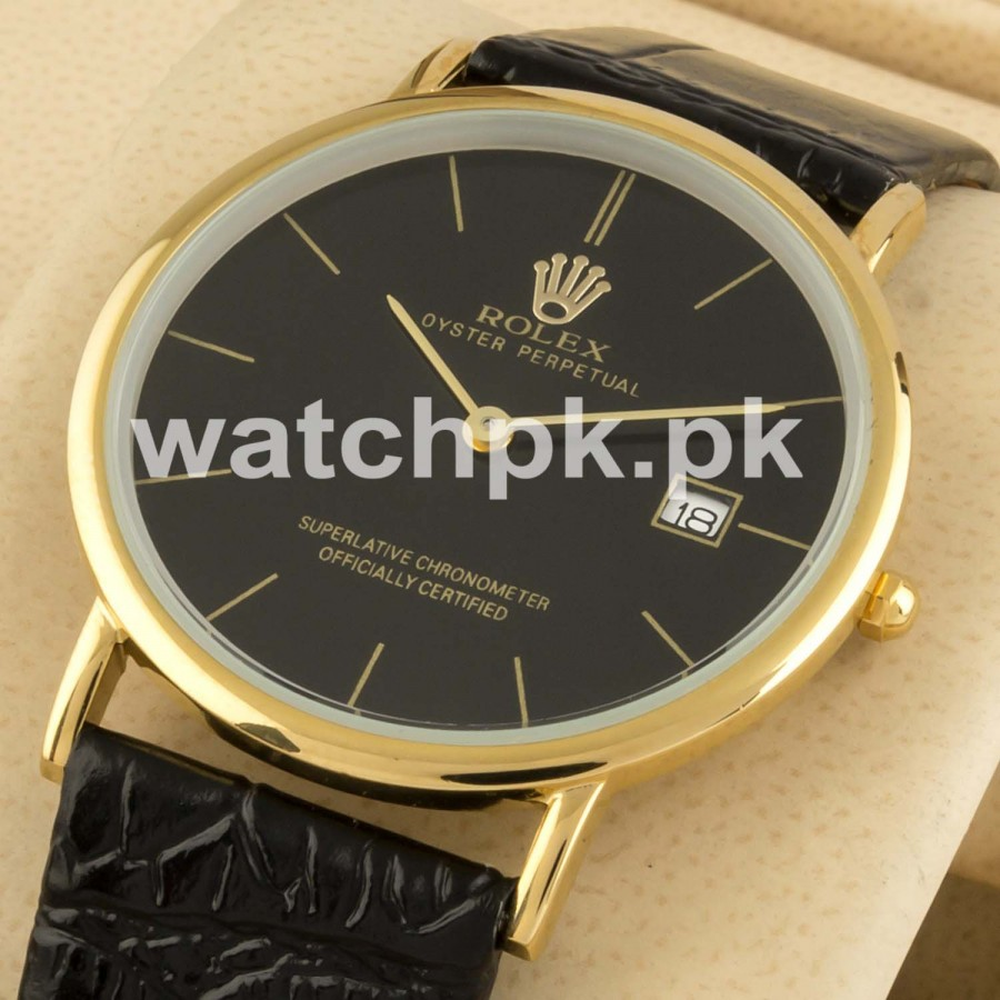 Rolex Date Just Classic Thinline - Golden Black