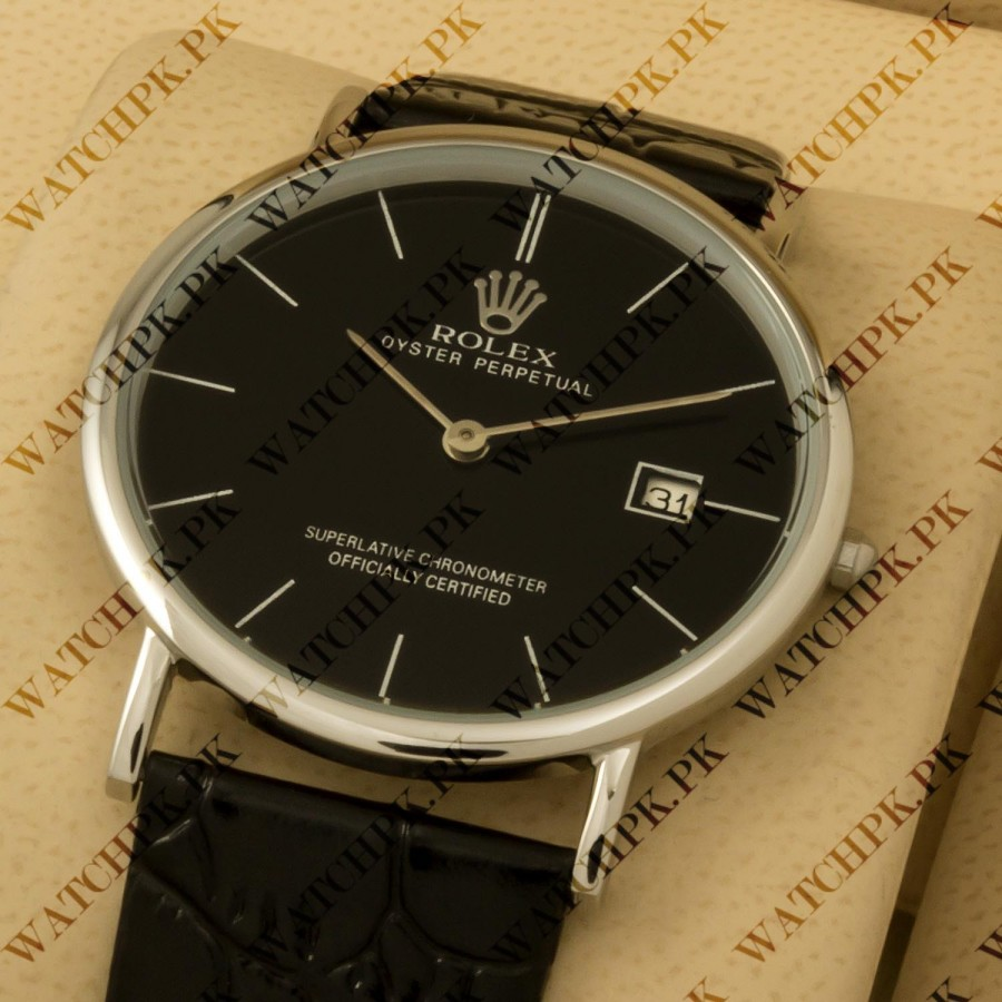 Rolex Date Just Classic Thinline - Black