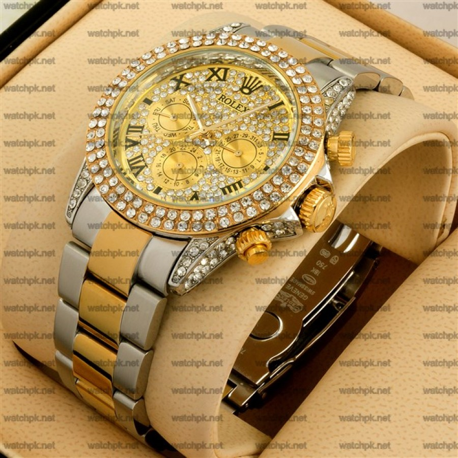 Rolex Cosmograph Daytona Gold and Steel - Diamonds
