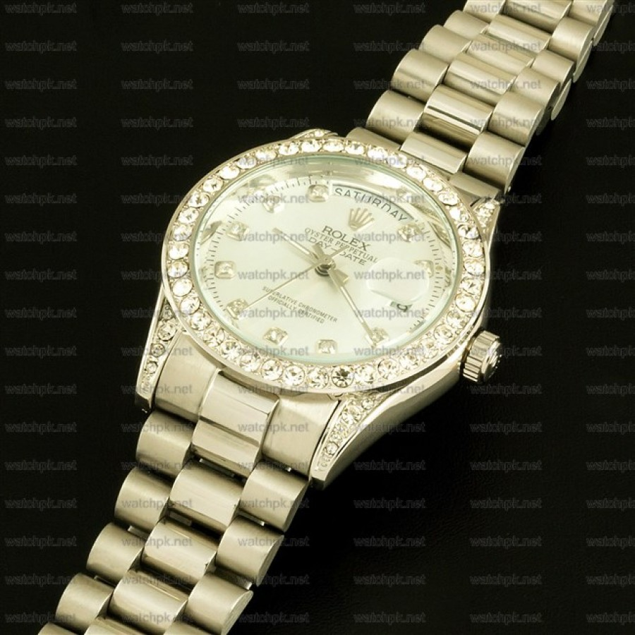 Rolex Oyester Perpetual Day Date II - Diamonds White