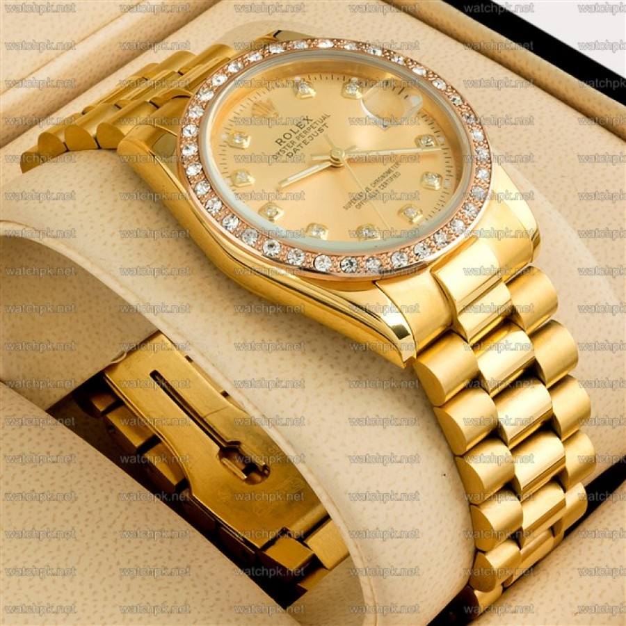 Rolex Oyester Perpetual Date - Diamonds Gold