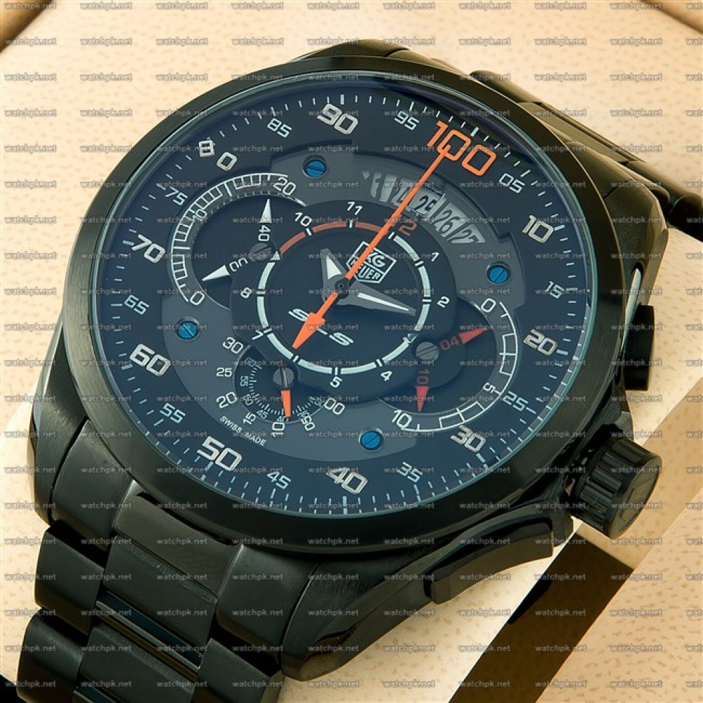Watches For Men : TAG Heuer Mercedes Benz SLS 100 Black