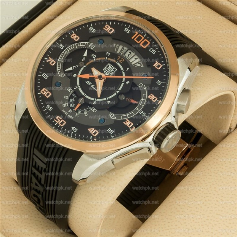 watches for men : tag heuer mercedes benz sls 100 copper black