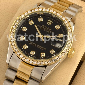 Rolex Oyester Perpetual Date - Diamonds Black