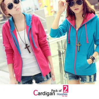 Pack of 2 Cardigan Hoodies for Her