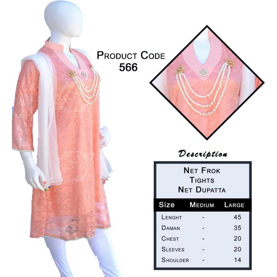 Stylish Ladies Suit (Net Frok, Tight and Dupattaa)