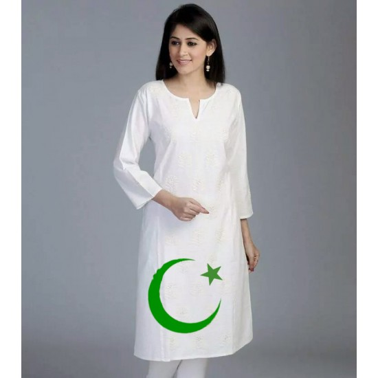 Independence day White Plane Kurti