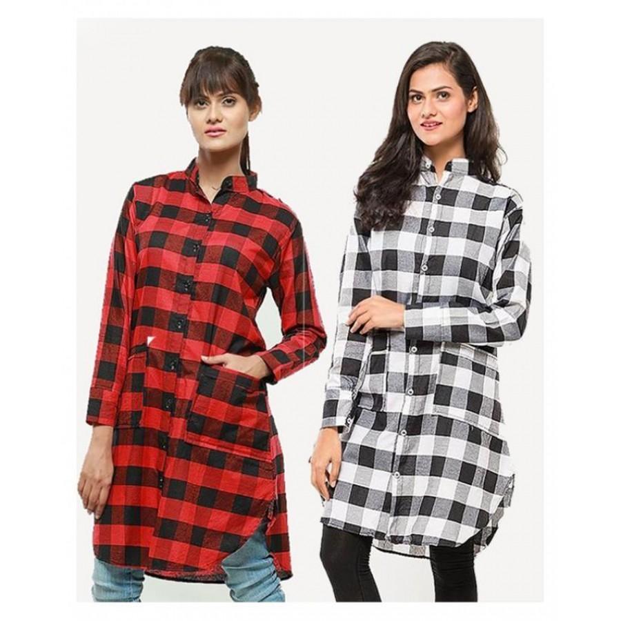 Pack of 2 Checkered Kurti for Women