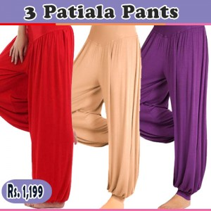 Pack of 3 Harem / Patiala Pants for HER