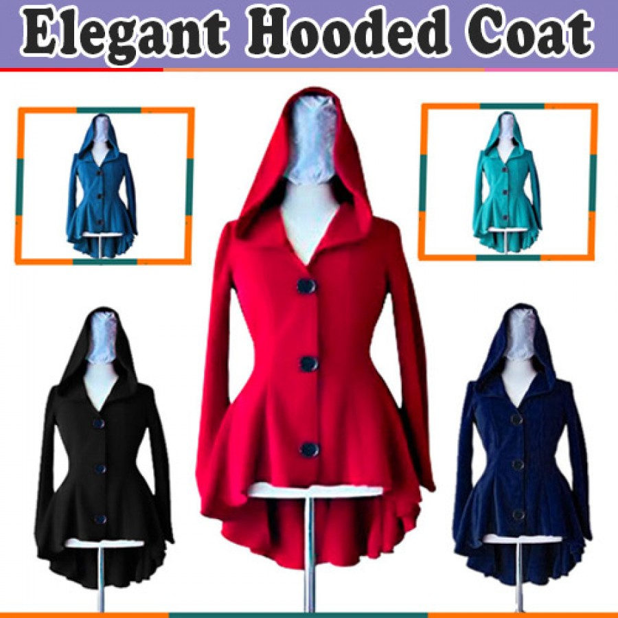 Elegant Hoodied Winer Coat for HER